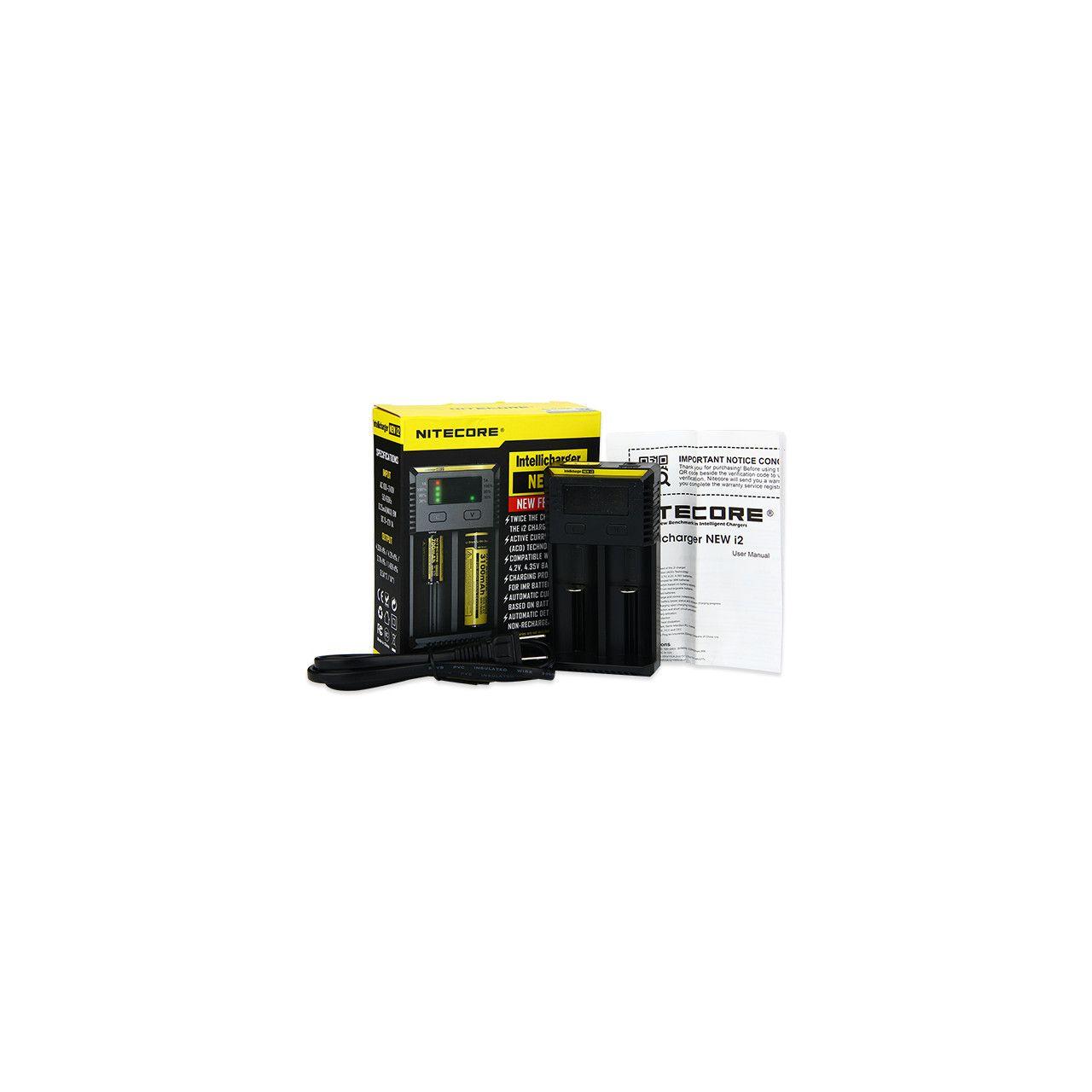 Nitecore - Carregador de Bateria - New I2 Nitecore - 1