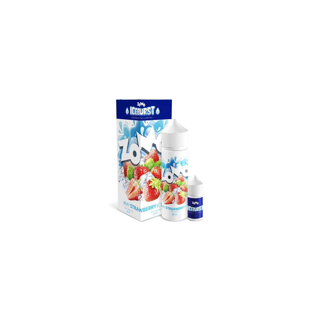 Líquido (Juice) - Strawberry - Ice burst - Zomo Vape