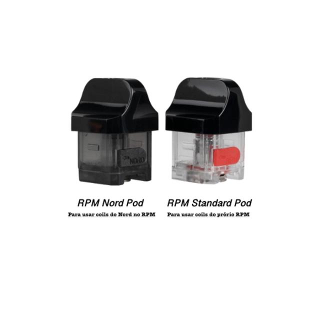 Cartucho RPM 40 - Smok - Reposição - (Sem Coil)