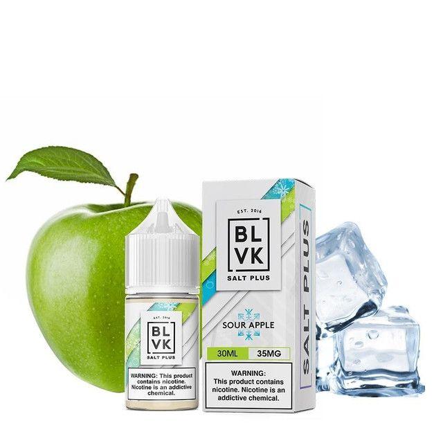 Líquido (Juice) - BLVK - Sour Apple - Salt Plus - Nic Salt