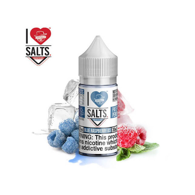 I Love Salts - Vape Juice - Blue Raspberry Ice - Mad Hatter  - 1