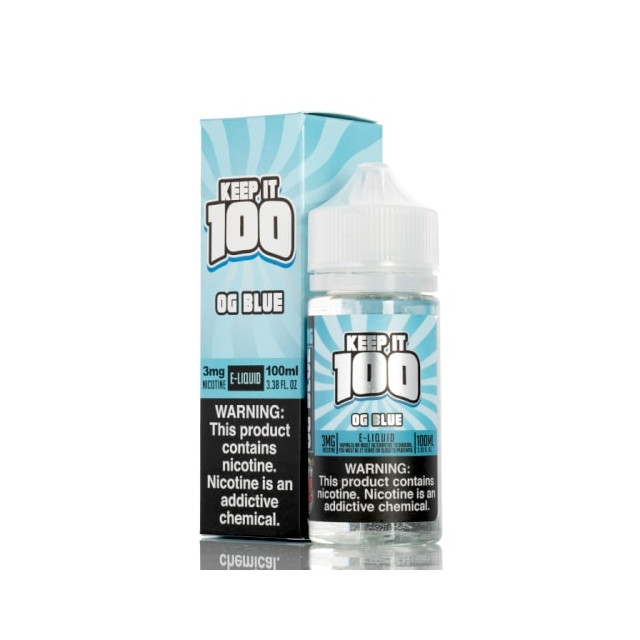 Keep It 100 - Vape Juice - OG Blue - Slushie  - 1